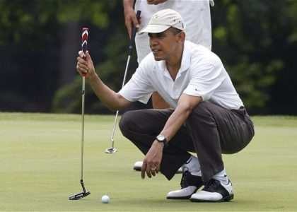 obama on the golf course
