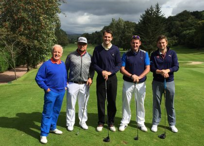 John Watson with other golfers