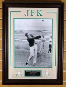 Framed print of JFK Playing Golf