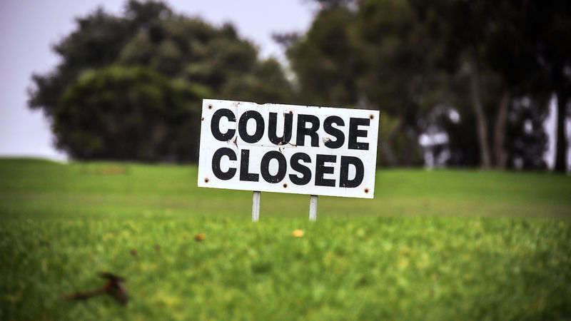 UK Government orders closure of Golf courses